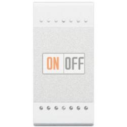 Выключатель 2-клавишный проходной с подсветкой (с двух мест) (винтовые клеммы), цвет Белый, LivingLight, Bticino