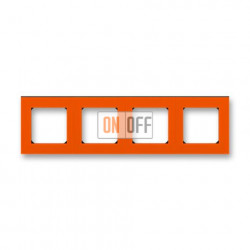 Рамка 4-ая (четверная), цвет Оранжевый/Дымчатый черный, Levit, ABB