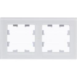 Рамка 2-ая (двойная), Стекло Белое, серия Atlas Design Nature, Schneider Electric