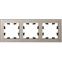 Рамка 3-ая (тройная), Стекло Шампань, серия Atlas Design Nature, Schneider Electric