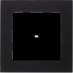 Рамка 1-ая (одинарная), Стекло Матовое Черное, серия Atlas Design Nature, Schneider Electric