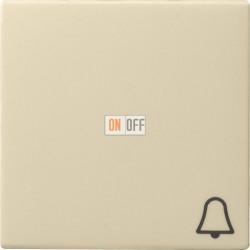 Выключатель 1-клавишный; кнопочный , цвет Бежевый, Gira