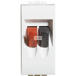 Установочная розетка аудио для колонок 1-ая 1 мод, цвет Белый, LivingLight, Bticino