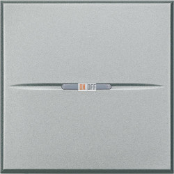 Выключатель 1-клавишный , с подсветкой Axial, цвет Алюминий, Axolute, Bticino