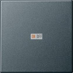 Выключатель 1-клавишный ,проходной (с двух мест), цвет Антрацит, Gira