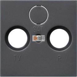 Розетка телевизионная оконечная ТV-FМ, цвет Антрацит, Gira