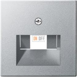 Розетка компьютерная 2-ая кат.5е, RJ-45 (интернет), цвет Алюминий, Gira