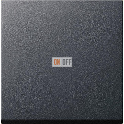 Диммер нажимной (кнопочный) 400Вт для л/н и эл.трансф., цвет Антрацит, Gira