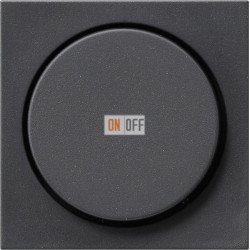 Диммер поворотно-нажимной , 600Вт для ламп накаливания, цвет Антрацит, Gira