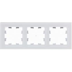 Рамка 3-ая (тройная), Стекло Матовое Белое, серия Atlas Design Nature, Schneider Electric