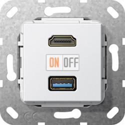 Розетка USB/HDMI (разъем), цвет Белый, Gira