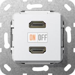 Розетка HDMI 2-ая (разъем), цвет Белый, Gira