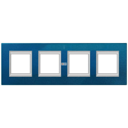 Рамка 4-ая (четверная) прямоугольная, цвет Сапфир, Axolute, Bticino