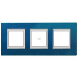 Рамка 3-ая (тройная) прямоугольная, цвет Сапфир, Axolute, Bticino