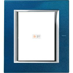 Рамка итальянский стандарт 3+3 мод прямоугольная, цвет Сапфир, Axolute, Bticino
