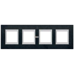 Рамка 4-ая (четверная) прямоугольная, цвет Черный мрамор Ардезия, Axolute, Bticino