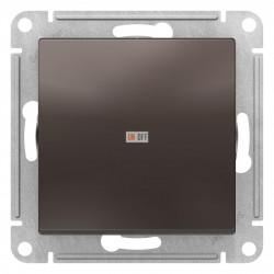 Выключатель 1-клавишный, перекрестный (с трех мест), Мокко, серия Atlas Design, Schneider Electric