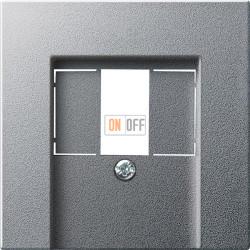 Розетка USB 2-ая для подзарядки (механизм Berker), цвет Алюминий, Gira