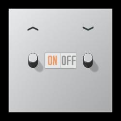 Выключатель для жалюзи (рольставней) кноп. (тумблер-цилиндр), цвет Алюминий, LS1912