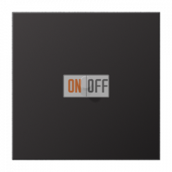 Выключатель 1-кл кноп. НО (тумблер-цилиндр), цвет Dark, LS1912