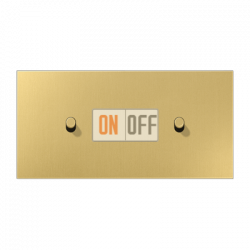 Выключатель 1-кл кноп. НО + Выключатель 1-кл кноп. НО (тумблер-цилиндр) гориз, цвет Classic, LS1912