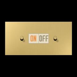 Выключатель 1-кл прох. + Выключатель 1-кл кноп. (тумблер-цилиндр) гориз, цвет Classic, LS1912