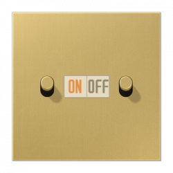 Выключатель 2-кл кноп. НО (тумблер-цилиндр), цвет Classic, LS1912