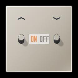 Выключатель для жалюзи (рольставней) кноп. (тумблер-цилиндр), цвет Нерж. сталь, LS1912