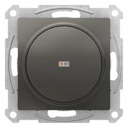 Диммер поворотно-нажимной , 300Вт для ламп накаливания, Сталь, серия Atlas Design, Schneider Electric