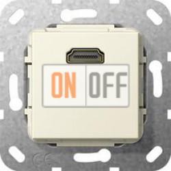 Розетка HDMI 1-ая (разветвительный кабель), цвет Бежевый, Gira