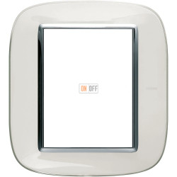 Рамка итальянский стандарт 3+3 мод эллипс, цвет Белая карамель, Axolute, Bticino