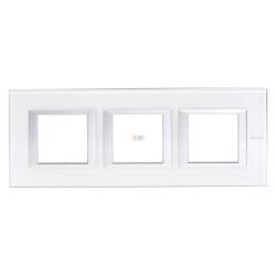 Рамка 3-ая (тройная) прямоугольная, цвет Whice, Axolute, Bticino