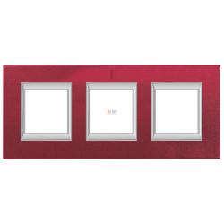 Рамка 3-ая (тройная) прямоугольная, цвет Рубин, Axolute, Bticino