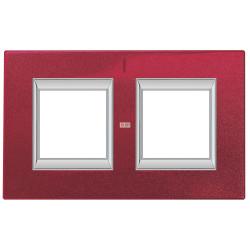 Рамка 2-ая (двойная) прямоугольная, цвет Рубин, Axolute, Bticino