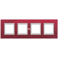 Рамка 4-ая (четверная) прямоугольная, цвет Рубин, Axolute, Bticino