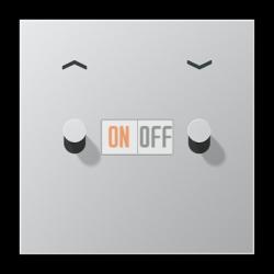 Выключатель для жалюзи (рольставней) кноп. (тумблер-конус), цвет Алюминий, LS1912