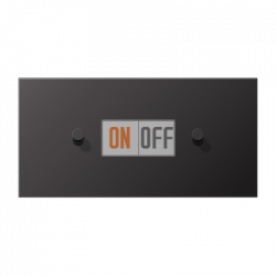 Выключатель 1-кл перекр. + Выключатель 1-кл кноп. НО (тумблер-конус) гориз, цвет Dark, LS1912