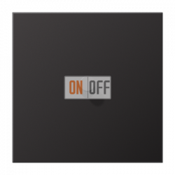 Выключатель 1-кл кноп. (тумблер-конус), цвет Dark, LS1912