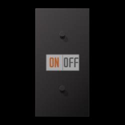Выключатель 1-кл кноп. НО + Выключатель 1-кл кноп. (тумблер-конус) верт, цвет Dark, LS1912