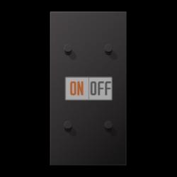 Выключатель 2-кл + Выключатель 2-кл кноп. НО (тумблер-конус) верт, цвет Dark, LS1912