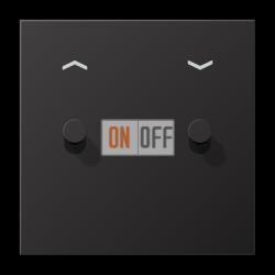 Выключатель для жалюзи (рольставней) кноп. (тумблер-конус), цвет Dark, LS1912