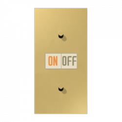 Выключатель 1-кл кноп. НО + Выключатель 1-кл кноп. НО (тумблер-конус) верт, цвет Classic, LS1912
