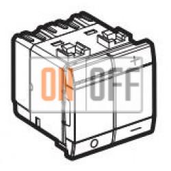 Диммер нажимной (кнопочный) 600Вт для ламп накаливания, цвет Антрацит, LivingLight, Bticino