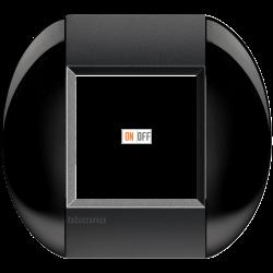 Рамка 1-ая (одинарная) овальная, цвет Черный, LivingLight, Bticino