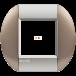 Рамка 1-ая (одинарная) овальная, цвет Бронзовый, LivingLight, Bticino