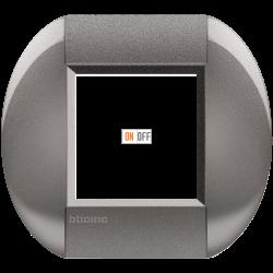 Рамка 1-ая (одинарная) овальная, цвет Серый, LivingLight, Bticino