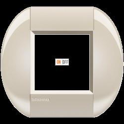 Рамка 1-ая (одинарная) овальная, цвет Кремовый, LivingLight, Bticino