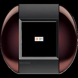 Рамка 1-ая (одинарная) овальная, цвет Бордовый, LivingLight, Bticino