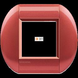 Рамка 1-ая (одинарная) овальная, цвет Малина, LivingLight, Bticino
