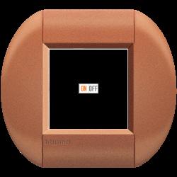 Рамка 1-ая (одинарная) овальная, цвет Сиена, LivingLight, Bticino